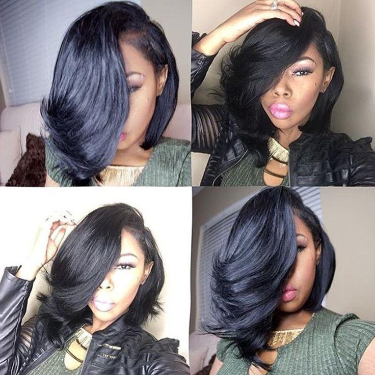 Best 25+ Black Hair Bob Ideas On Pinterest | Black Long Bob, Short Regarding Short Black Bob Haircuts (View 11 of 15)