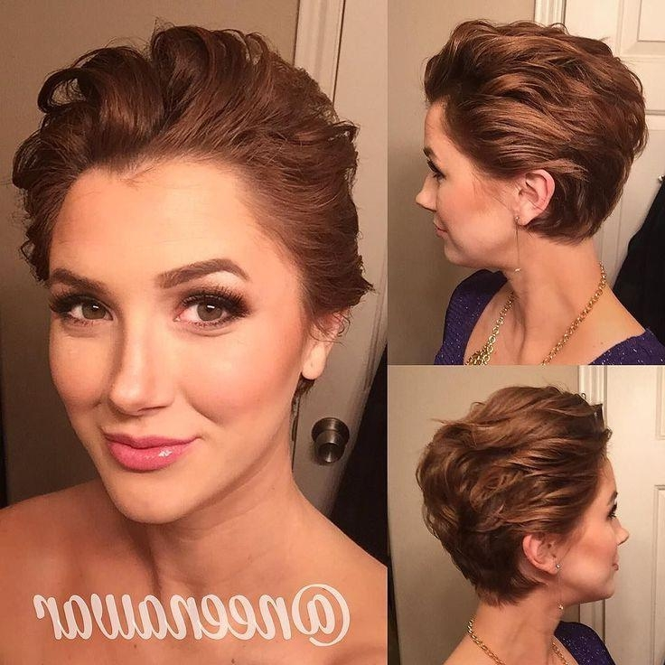 Best 25+ Fancy Short Hair Ideas On Pinterest | Hair Updos Short Within Cute Hairstyles For Really Short Hair (View 14 of 15)