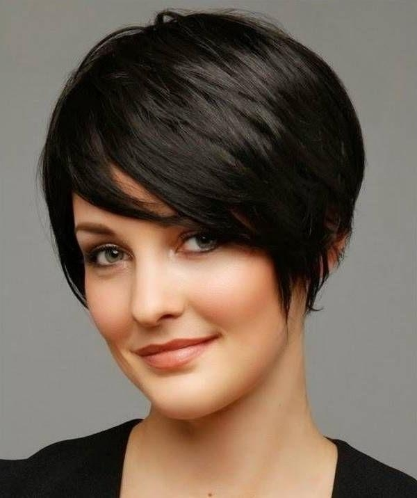 Best 25+ Fat Face Hairstyles Ideas On Pinterest | Pixie Cut Round With Short Haircuts For Chubby Oval Faces (View 8 of 15)