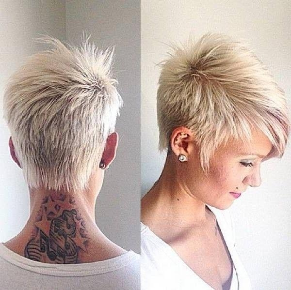 Best 25+ Funky Short Hair Ideas On Pinterest | Pixie Faux Hawk Intended For Short Funky Hairstyles For Over  (View 4 of 15)