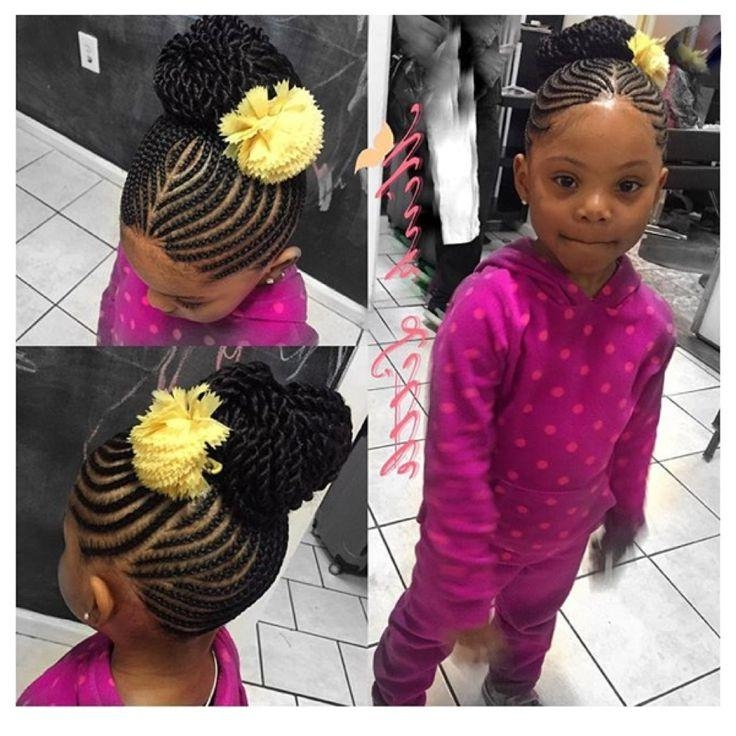 Best 25+ Kid Braids Ideas On Pinterest | Cornrow Styles For Girls Inside Black Little Girl Short Hairstyles (View 12 of 14)