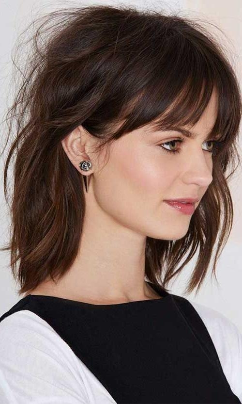 Best 25+ Medium Haircuts With Bangs Ideas On Pinterest | Hair With With Short To Medium Hairstyles With Bangs (View 4 of 15)