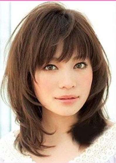 Best 25+ Medium Hairstyles With Bangs Ideas On Pinterest Throughout Short To Medium Hairstyles With Bangs (View 3 of 15)