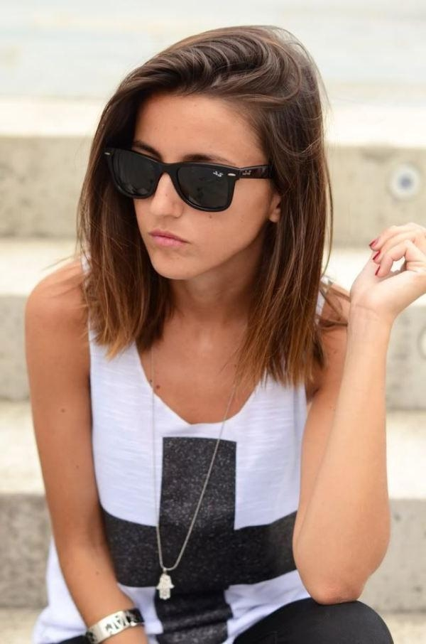 Best 25+ Medium Short Hair Ideas That You Will Like On Pinterest Within Medium Short Straight Hairstyles (View 9 of 15)