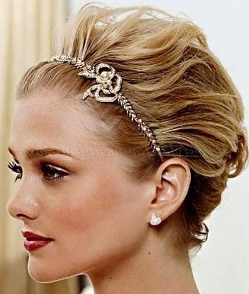 Best 25+ Short Bridal Hairstyles Ideas On Pinterest | Short In Brides Hairstyles For Short Hair (View 6 of 15)