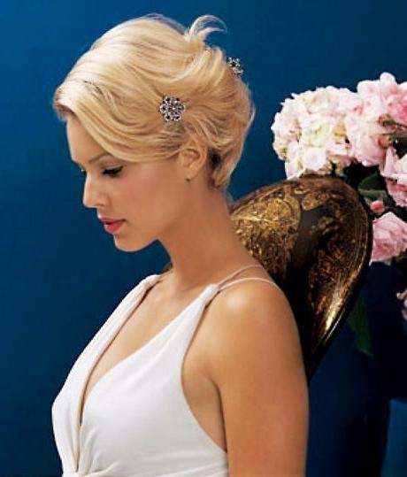 Best 25+ Short Bridal Hairstyles Ideas On Pinterest | Short Pertaining To Bridal Hairstyles Short Hair (View 3 of 15)