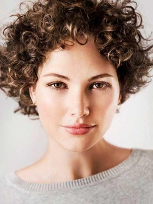Best 25+ Short Curly Hairstyles Ideas Only On Pinterest | Short Inside Short Hairstyles For Women With Curly Hair (View 14 of 15)