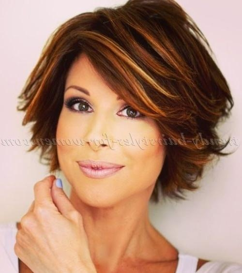 Photo Gallery of Medium Short Haircuts For Women Over 50 (Viewing 12 ...
