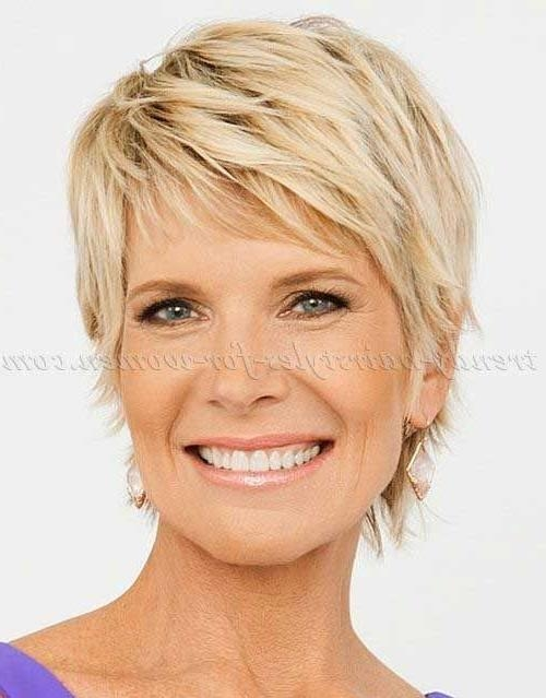 Best 25+ Short Hair Over 50 Ideas On Pinterest | Short Hair Back With Short Layered Hairstyles For Fine Hair Over (View 5 of 15)