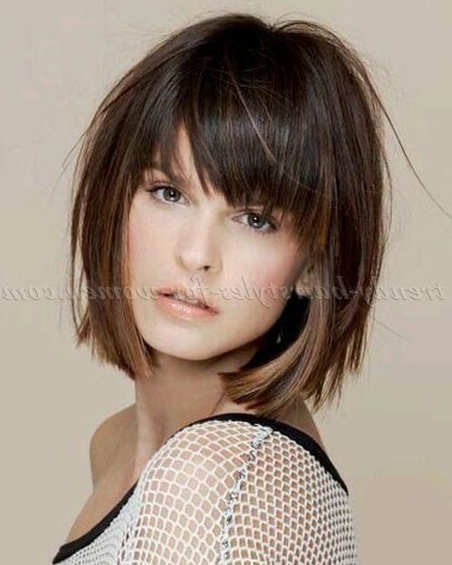 Best 25+ Short Hairstyles With Bangs Ideas On Pinterest | Fringe With Regard To Short To Medium Hairstyles With Bangs (View 12 of 15)