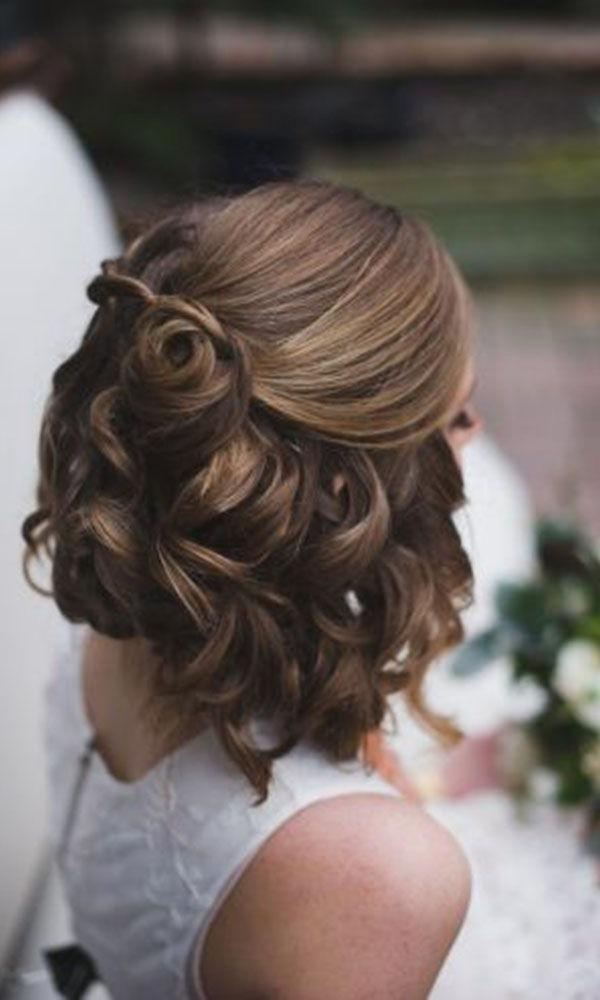 Best 25+ Short Wedding Hairstyles Ideas On Pinterest | Wedding In Cute Hairstyles For Short Hair For A Wedding (View 9 of 15)