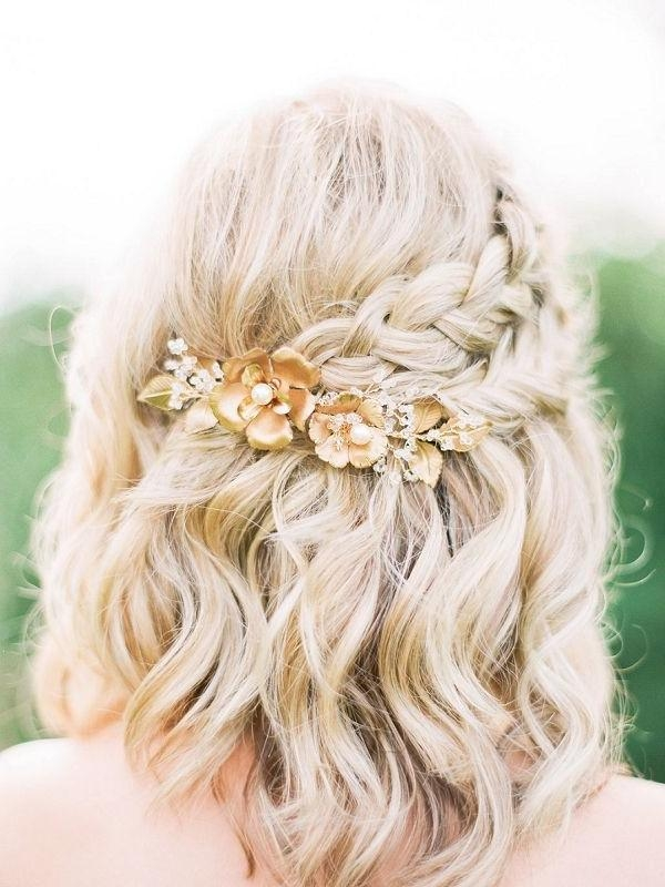 Best 25+ Short Wedding Hairstyles Ideas On Pinterest | Wedding Inside Cute Hairstyles For Short Hair For A Wedding (View 10 of 15)