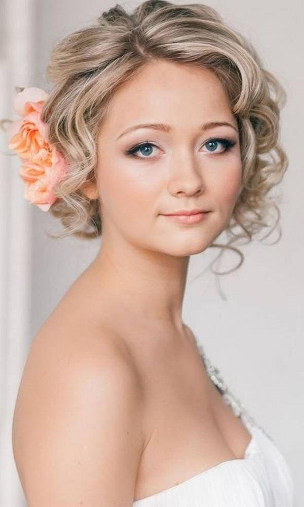 Best 25+ Short Wedding Hairstyles Ideas On Pinterest | Wedding Intended For Bridal Hairstyles Short Hair (View 2 of 15)