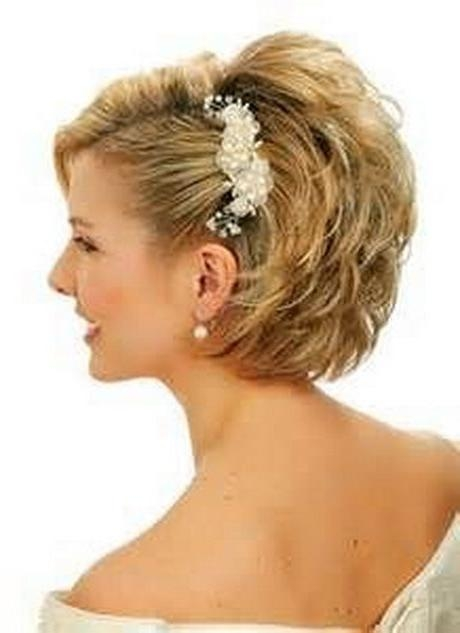 Best 25+ Short Wedding Hairstyles Ideas On Pinterest | Wedding Throughout Bridal Hairstyles Short Hair (View 9 of 15)