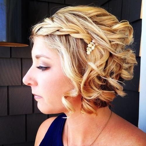 Best 25+ Short Wedding Hairstyles Ideas On Pinterest | Wedding Within Brides Hairstyles For Short Hair (View 11 of 15)
