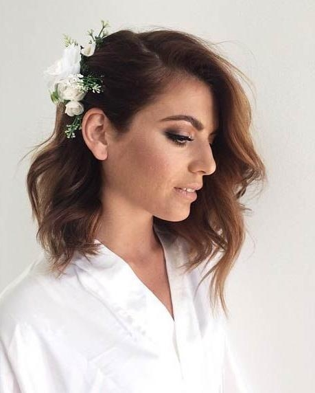 Best 25+ Short Wedding Hairstyles Ideas On Pinterest | Wedding Within Hairstyle For Short Hair For Wedding (View 12 of 15)