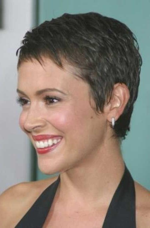 Best 25+ Super Short Pixie Ideas On Pinterest | Short Pixie, Short Throughout Super Short Hairstyles For Round Faces (View 12 of 15)