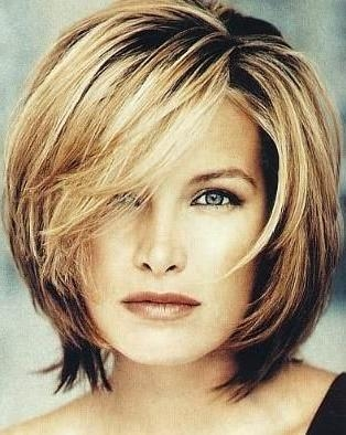 Best 25+ Thick Hairstyles Ideas On Pinterest | Short Bob Cuts Inside Short Medium Hairstyles For Thick Hair (View 4 of 15)