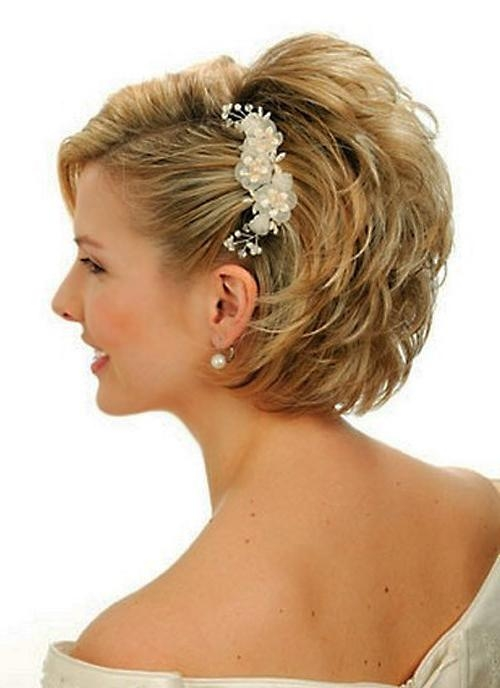 Best Short Hair Updos Wedding Pictures – Awesome Wedding With Regard To Hairstyles For Brides With Short Hair (View 10 of 15)