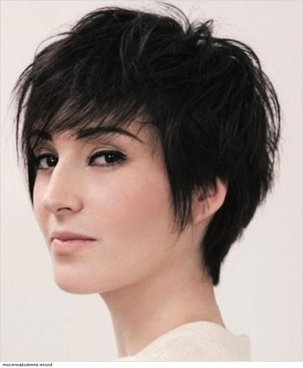 Best Short Hairstyles For Thick Hair Inside Short Hairstyles For Thick Hair And Long Face (View 4 of 15)