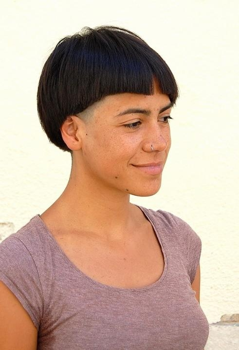 Bold Asymmetric Bob – With Attitude! – Short Black Bob Hairstyle With Short Black Bob Haircuts (View 14 of 15)