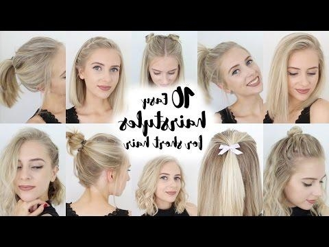 Cute And Easy Hairstyles For Short Hair – Worldbizdata Pertaining To Cute Hairstyles With Short Hair (View 11 of 15)