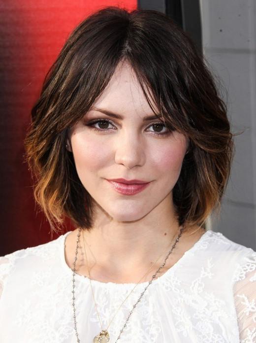 Cute, Medium Short Hairstyles: Katharine Mcphee Hair – Popular With Cute Medium Short Hairstyles (View 14 of 15)
