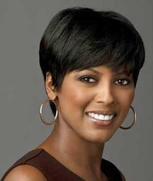 Cute Short Haircuts For Round Faces – Hottest Hairstyles 2013 Throughout Short Haircuts For Black Women With Round Faces (View 10 of 15)