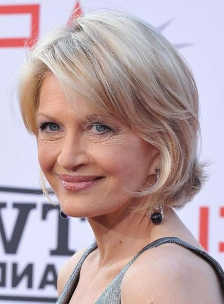 Diane Sawyer Short Bob Haircut – Hairstyles Weekly In Ladies Short Hairstyles For Over 50S (View 13 of 15)
