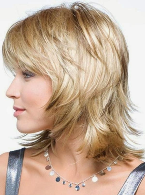 Haircuts Shoulder Length Fine Hair Cute Medium Length Curly For Short To Mid Length Layered Hairstyles (View 11 of 15)
