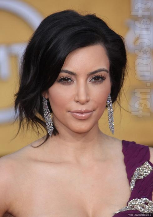 Kim Kardashian Short Hairstyle – Lustyfashion Intended For Kim Kardashian Short Hairstyles (View 8 of 15)