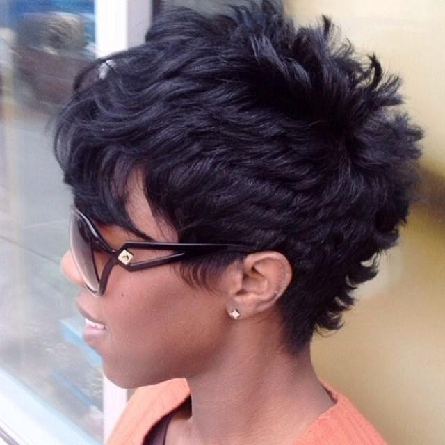 Layered Hairstyles For Black Hair With Black Short Layered Hairstyles (View 9 of 15)