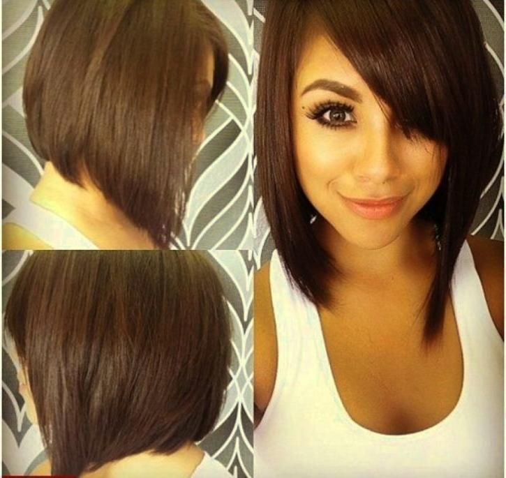 Medium Haircuts For Round Faces | Hairjos Throughout Medium Short Haircuts For Round Faces (View 4 of 15)