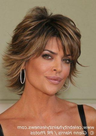 Medium Length Layered Haircuts | Lisa Rinna With A Short Layered Regarding Short To Mid Length Layered Hairstyles (View 13 of 15)