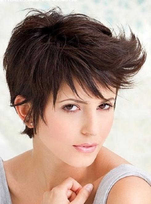 Messy Pixie Short Hairstyles 2013 For Curling And Straight Hairs Intended For Short Teenage Girl Haircuts (View 12 of 15)