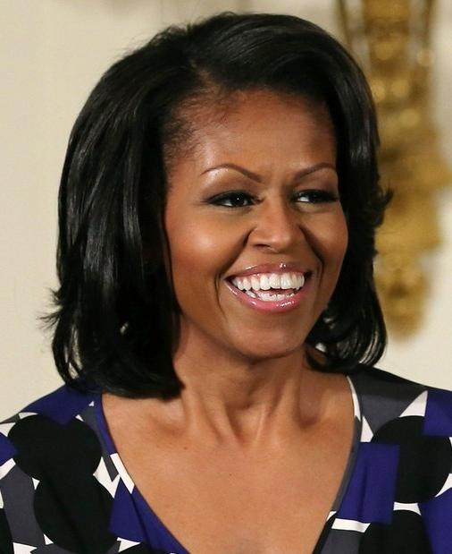 Michelle Obama Hairstyles: Oval Face Shape Hairstyles For Black Throughout Short Hairstyles For Black Women With Oval Faces (View 10 of 15)