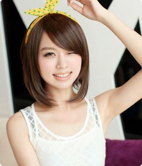 Most Popular Asian Hairstyles For Short Hair – Popular Haircuts Pertaining To Short Hairstyle For Asian Girl (View 13 of 15)