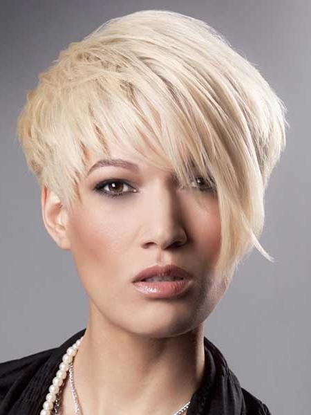 Pictures Of Short Haircuts With Bangs   Short Hairstyles 2016 Pertaining To Semi Short Layered Hairstyles (View 11 of 15)