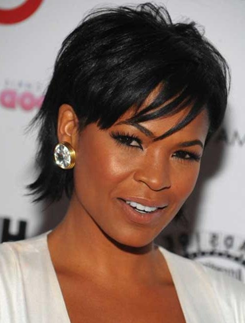 Quick Cute Short Hairstyles With Bangs For Black Women With Spiral Within Short Hairstyles For Black Women With Oval Faces (View 11 of 15)