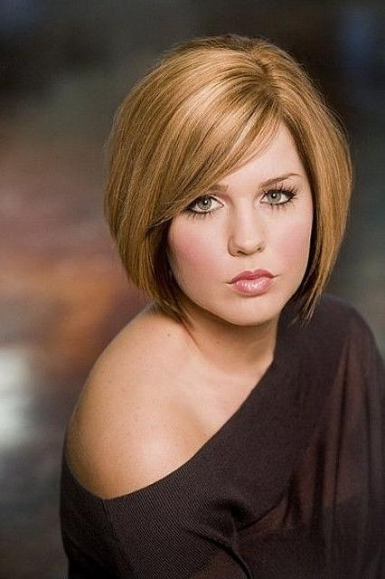 Round Full Face Women Hairstyles For Short Hair – Popular Haircuts With Regard To Fat Short Hair (View 7 of 15)