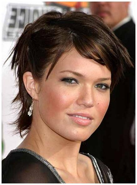Short Hairstyles: Best Short Hairstyles For Thin Hair And Round Regarding Short Haircuts For Chubby Oval Faces (View 14 of 15)