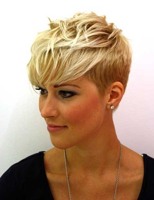 Short Hairstyles: Best Simple Short Blonde Hairstyles Sample Ideas In Short Blonde Styles (View 3 of 15)