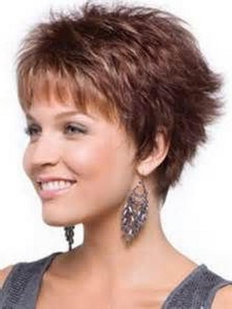 Photo Gallery Of Short Hairstyles For Fat Faces And Double