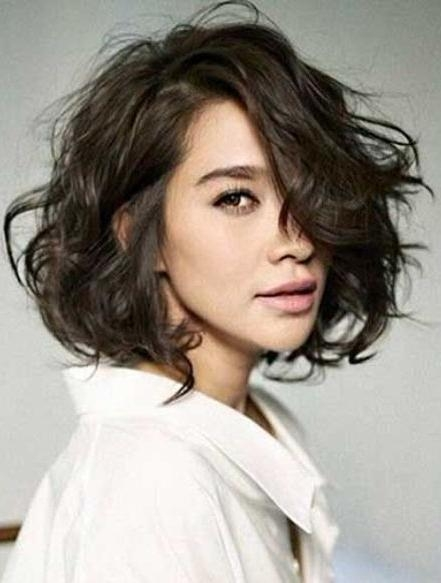 Short Hairstyles For Fine Hair Intended Wavy Gallery 8