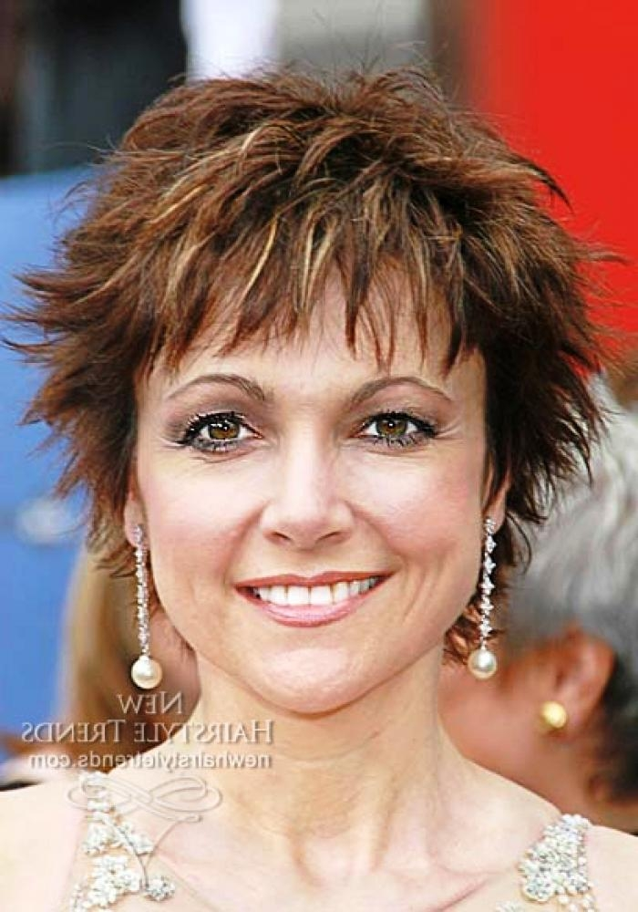 Short Hairstyles For Fine Hair Women Over 40 – Short Haircuts For With Regard To Short Haircuts For Fine Hair Over  (View 14 of 15)