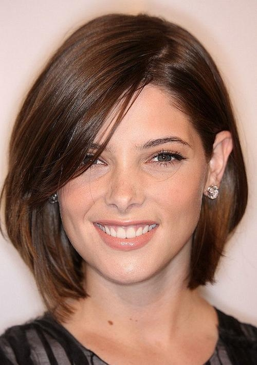 Short Hairstyles For Round Faces 2016 2017 Within Medium Short Haircuts For Round Faces (View 6 of 15)