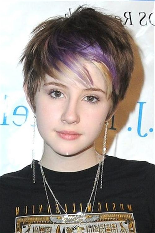 Short Hairstyles: Nice Short Hairstyles For Teenagers Cute Short With Short Hairstyles For Teenage Girl (View 14 of 15)