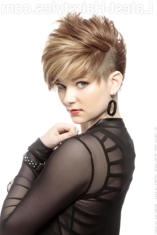Short Hairstyles: Very Short Edgy Hairstyles For Women Beautiful In Short Edgy Haircuts For Girls (View 13 of 15)