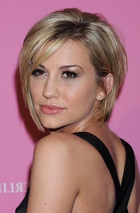 Short Layered Haircuts Chelsea Kane Graduated Bob Hairstyle Pertaining To Semi Short Layered Hairstyles (View 12 of 15)