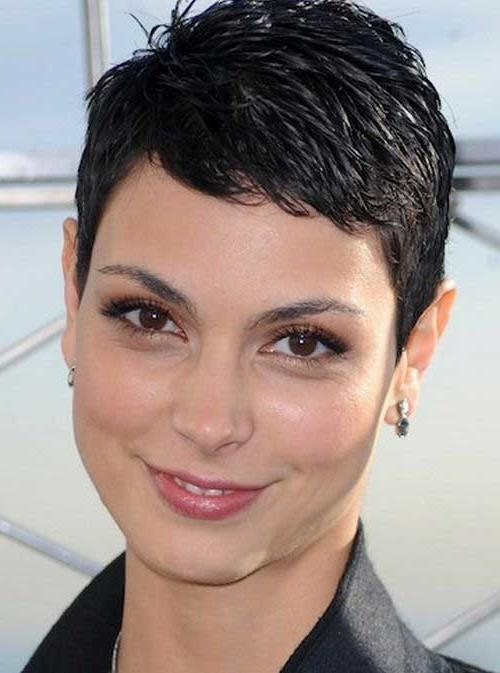 Super Short Haircuts For Thin Gray Hair Chic Short Pixie Haircut In Super Short Hairstyles For Round Faces (View 12 of 15)